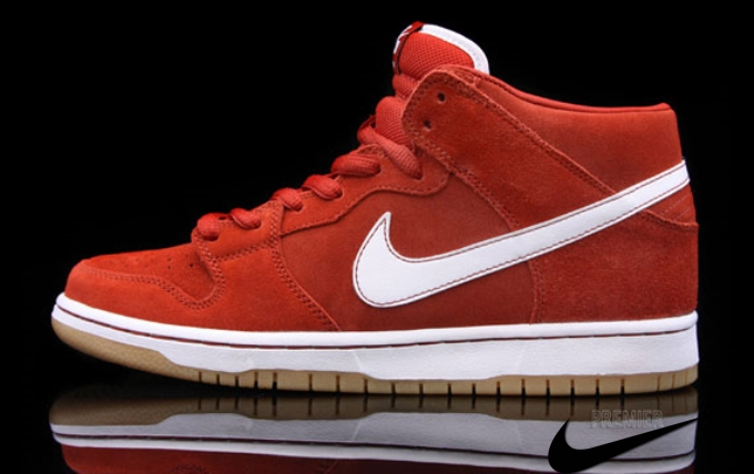 Nike Sb Dunk Mid Red