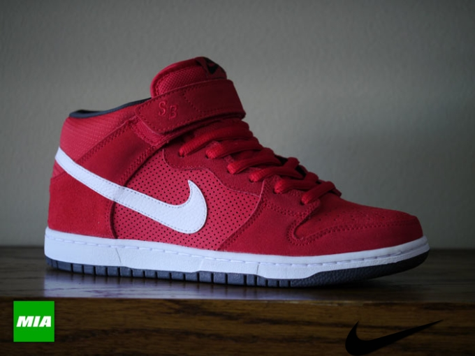 Nike Sb Dunk Mid Pro Red