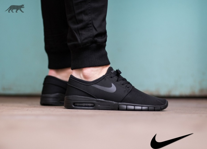 Nike Sb Janoski Max Black On Black