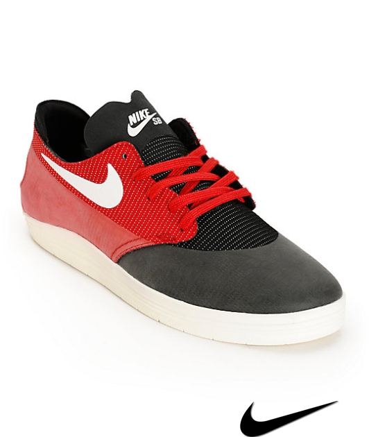 Nike Sb Lunar One Shot Red