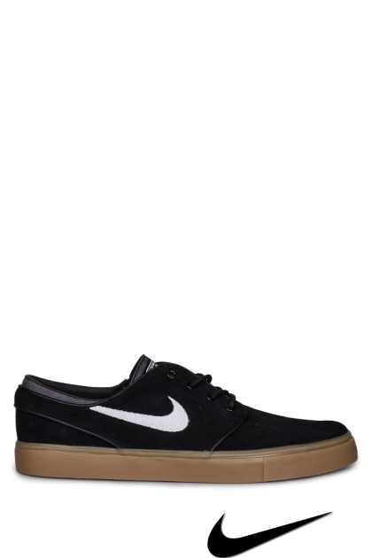 Nike Zoom Janoski Shoes - Black/White/Gum